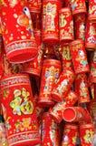 La décoration chinoise d'an neuf aiment le pétard Photos stock