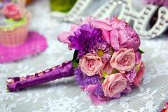 La décoration de mariage, aiment le signe en bois Image stock