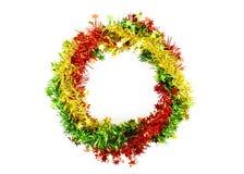 La décoration de Noël a arrondi la forme sur les milieux blancs images libres de droits