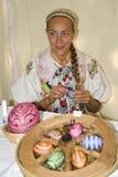 La décoration des oeufs de pâques Photo stock