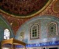 La décoration intérieure dans le palais de Topkapi, Istanbul, Turquie Photo stock