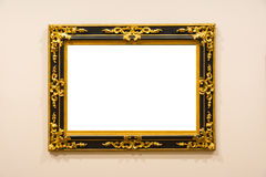 La décoration vide d'Art Museum Isolated Painting Frame à l'intérieur murent Photo libre de droits
