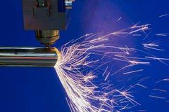 La découpeuse de laser de fibre de commande numérique par ordinateur Photos libres de droits