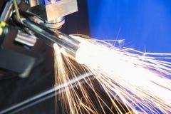 La découpeuse de laser de fibre de commande numérique par ordinateur Image libre de droits