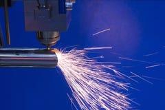 La découpeuse de laser de fibre de commande numérique par ordinateur Images libres de droits