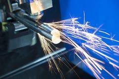 La découpeuse de laser de fibre de commande numérique par ordinateur Photos stock