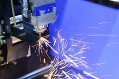 La découpeuse de laser de fibre de commande numérique par ordinateur Image stock
