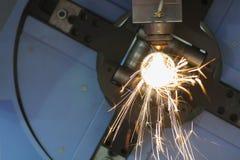 La découpeuse de laser de tube ou de tuyau Images libres de droits