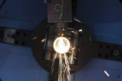 La découpeuse de laser de tube ou de tuyau Photographie stock libre de droits