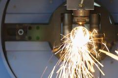 La découpeuse de laser de tube ou de tuyau Photo stock