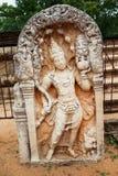 La déesse de danse a découpé sur une pierre Sri Lanka de temple Photographie stock libre de droits