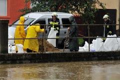 La défense d'inondation Photos stock
