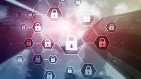 La défense d'intimité de Cybersecurity, d'information, de protection des données, de virus et de spyware photos stock