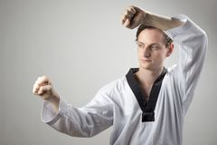 La défense du Taekwondo Image libre de droits
