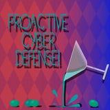 La défense proactive de Cyber des textes d'écriture Concept signifiant l'anticipation pour s'opposer à une attaque impliquant le  illustration stock