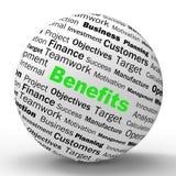 La définition de sphère d'avantages signifie des avantages ou illustration stock