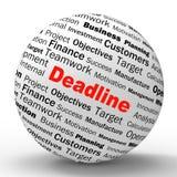 La définition de sphère de date-butoir signifie Job Time Limit Image stock