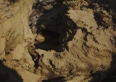 La déformation de la texture du sable Image libre de droits