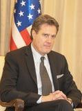 La délégation congressionnelle des Etats-Unis rencontre Israel President image stock