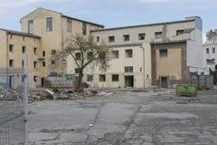 La démolition de vieux bâtiments Photographie stock