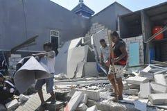 La démolition des maisons sur la terre a possédé la pinte KAI à Semarang Photographie stock