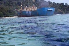 La démolition des poissons pirate VIKING Ship en Indonésie Images stock