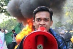 La démonstration d'étudiant de Makassar a critiqué les quatre années de photo libre de droits