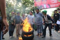 La démonstration d'étudiant de Makassar a critiqué les quatre années de photos libres de droits