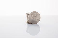 La dénomination de pièce de monnaie de cinq roubles Photographie stock