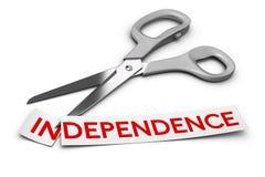 La dépendance contre l'indépendance, dépendance Image stock