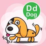 La D insegue il fumetto e l'alfabeto di colore per i bambini ad imparare il vettore royalty illustrazione gratis