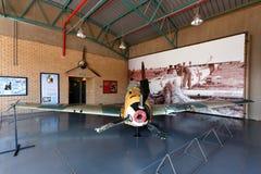 la 2da guerra mundial estrelló Messerschmitt 109 Foto de archivo