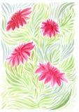 La dalia es una flor y un brote modelo del fondo - adornos florales wallpaper Utilice los materiales impresos, tarjetas del decou Fotos de archivo libres de regalías