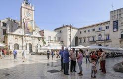 La Dalmazia zadar quadrata Croazia Europa della gente Fotografia Stock Libera da Diritti