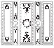 La damassé décorative a ornementé des cadres pour des murs ou des milieux Image libre de droits