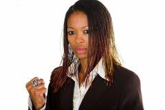 La dame d'affaires est fâchée Photos libres de droits