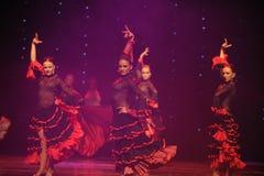 La dame de la danse du monde de l'Autriche Camélia-espagnole de flamenco-le Photo libre de droits