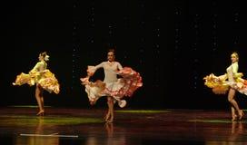 La dame de la danse du monde de l'Autriche Camélia-espagnole de flamenco-le Images libres de droits