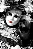 La dame en noir et blanc Images libres de droits