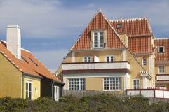 La Danimarca ha colorato le case Immagini Stock