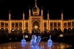 La Danimarca: Tivoli a Copenhaghen Fotografia Stock Libera da Diritti