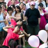 La danse 2 inspirent vers le haut de la fin chez Pinkdot Photographie stock libre de droits