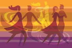 La danse couple le fond coloré illustration stock
