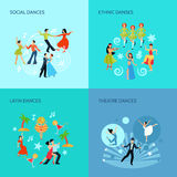 La danse dénomme le concept plat illustration stock
