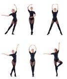 La danse de femme d'isolement sur le blanc Images libres de droits