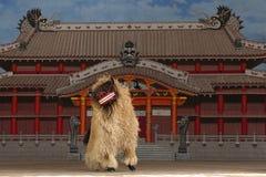 La danse de lion Images libres de droits