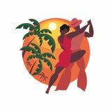 La danse de Salsa Photos libres de droits