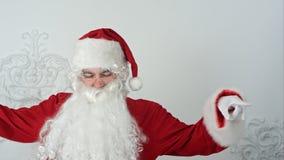La danse de Santa Claus aiment Michael Jackson Photo stock