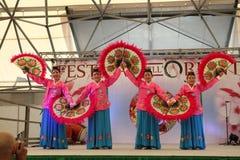 La danse des fans Corée. Photographie stock libre de droits