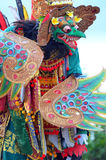 La danse du feu de Kecak au temple d'Uluwatu, Bali, Indonésie Photographie stock libre de droits